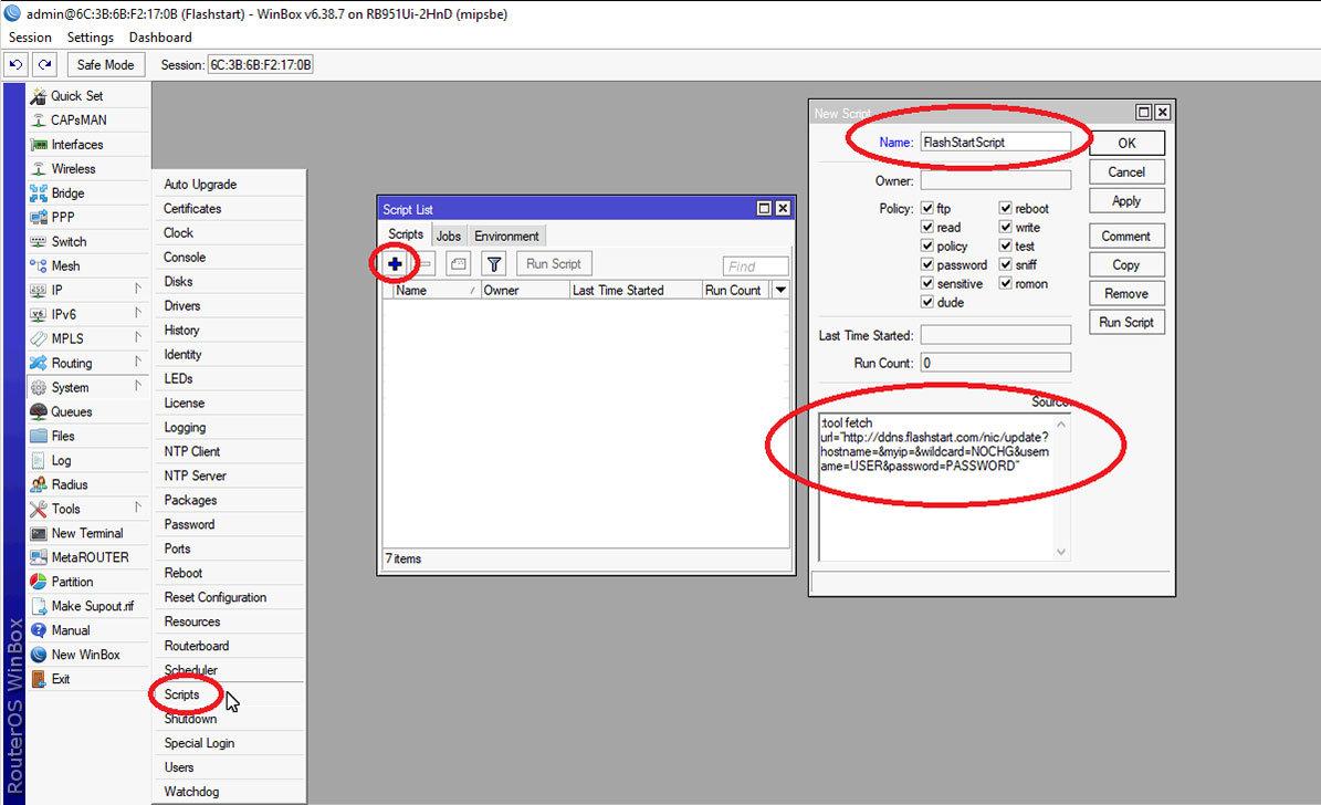 Integrating FlashStart in MikroTik RouterOS - old - FlashStart
