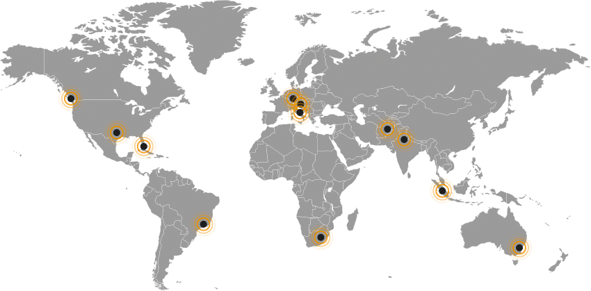 Mappa di tutti i nodi protetti dall'internet filter FlashStart